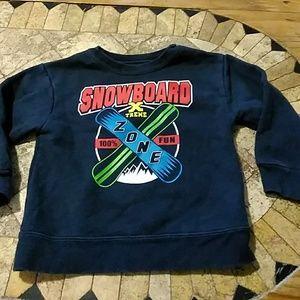 SALE boys Snowboard sweatshirt 24 months